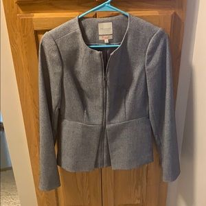 Grey Scandal Zip Blazer